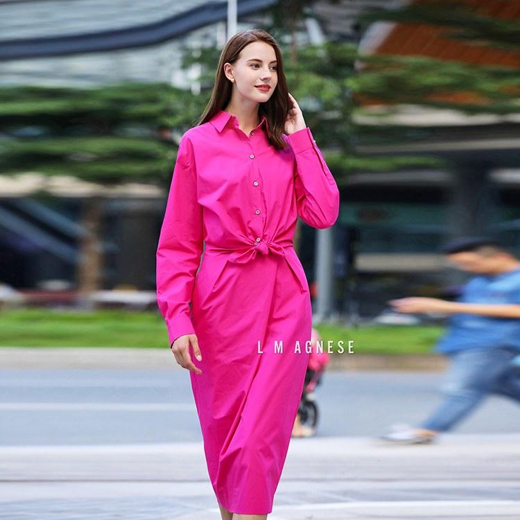 简爱格妮斯国际轻奢品牌服装专柜正品女装修身连衣裙