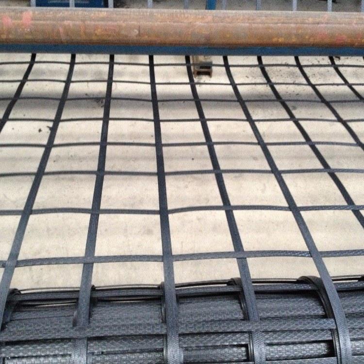 厂家生产定制挡土墙加筋用PET聚酯焊接土工格栅价格 路德新材料