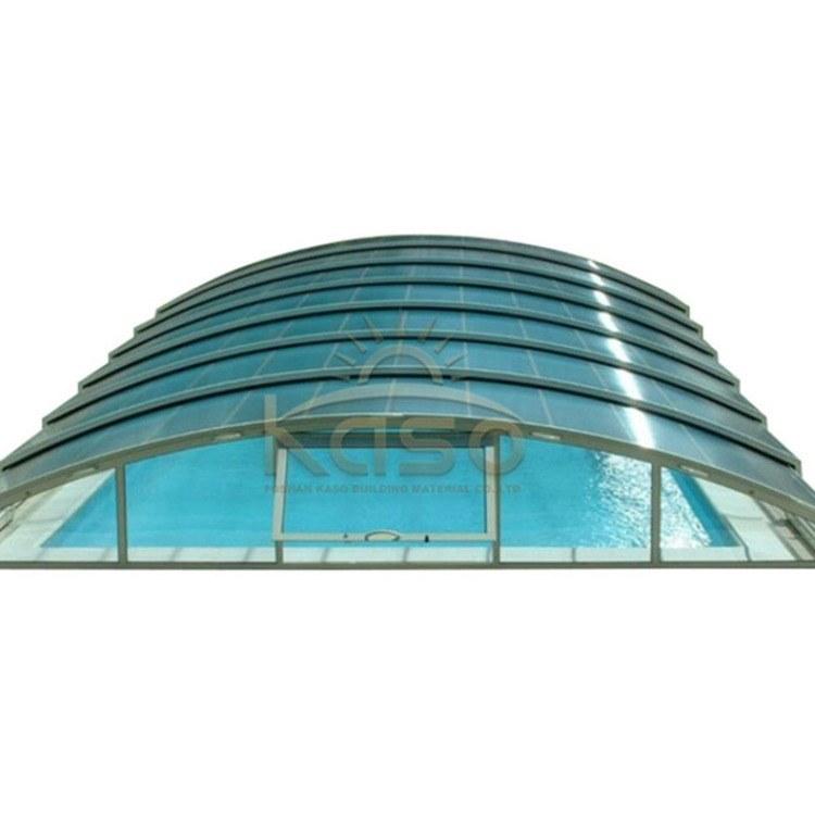KASO 露台推拉遮阳棚 天井伸缩下沉式庭院天盖 泳池盖 自动泳池上盖