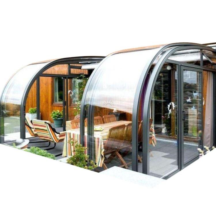 KASO 移动阳光房 折叠伸缩滑动遮阳棚 顶棚 推拉式活动滑轨式可伸缩阳光房