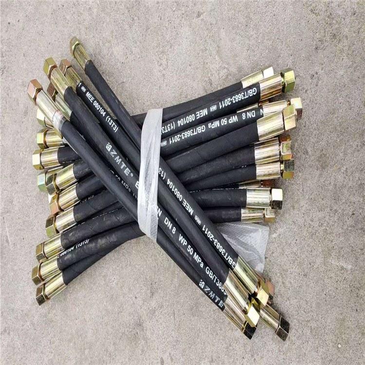 德利高压液压胶管高压油管三元乙丙耐磨石油钻探橡胶管