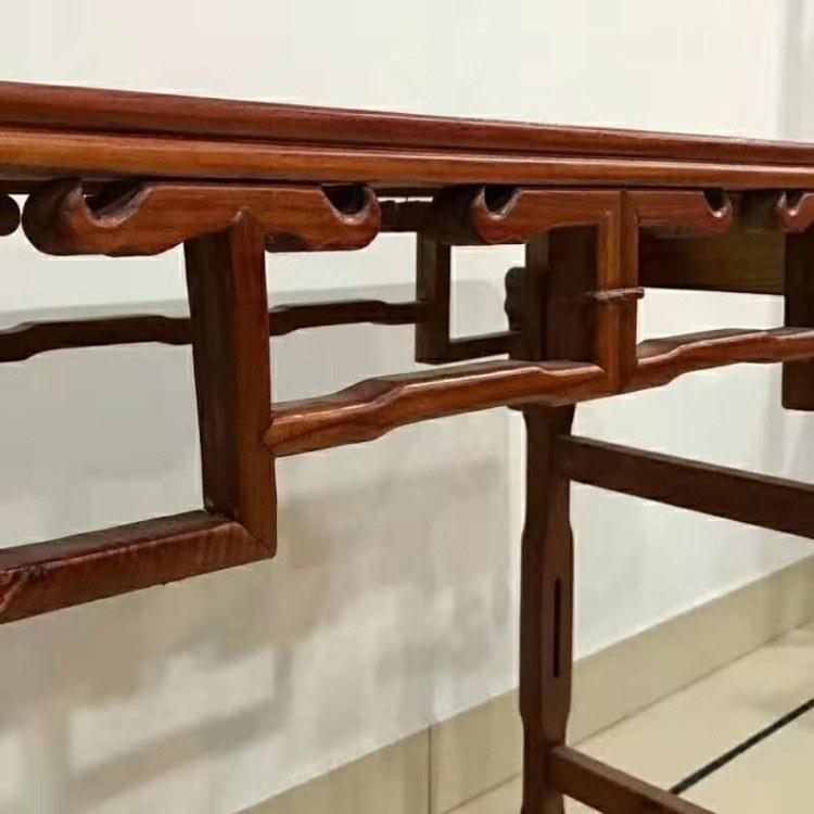 实木条案中式中堂供桌供台条几桌 中堂桌榆木香案台玄关台香案台
