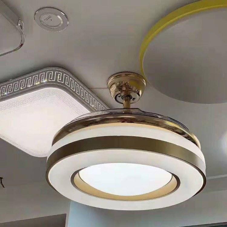 电机十年质保客餐厅伸缩语音控制创意风扇灯全国发货