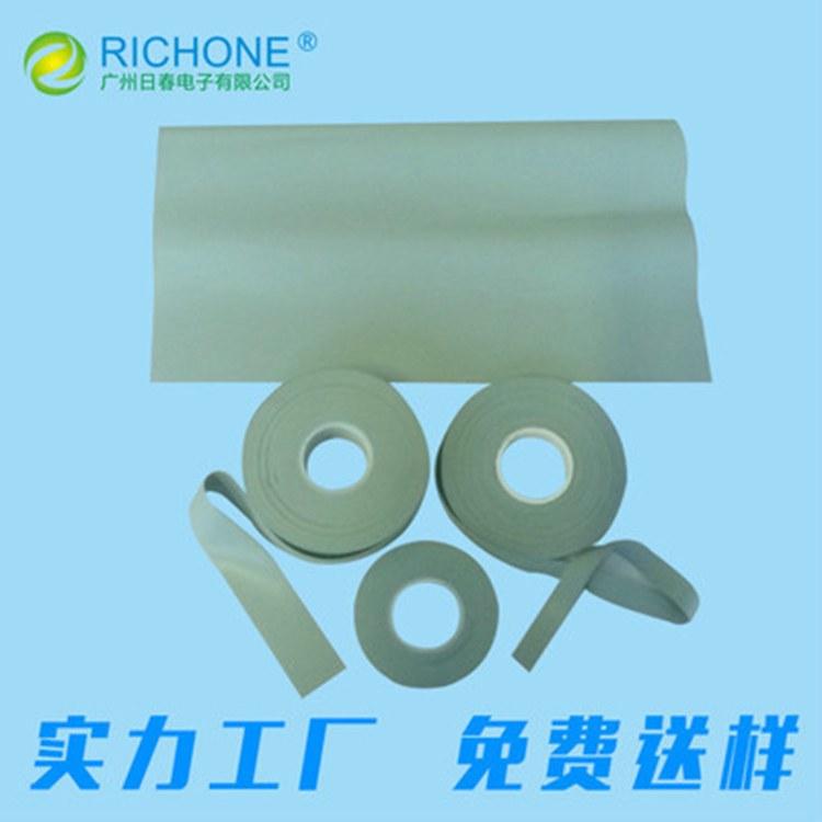 工厂直销 热压硅胶皮 导热绿色热压硅胶皮 绝缘导热硅胶带