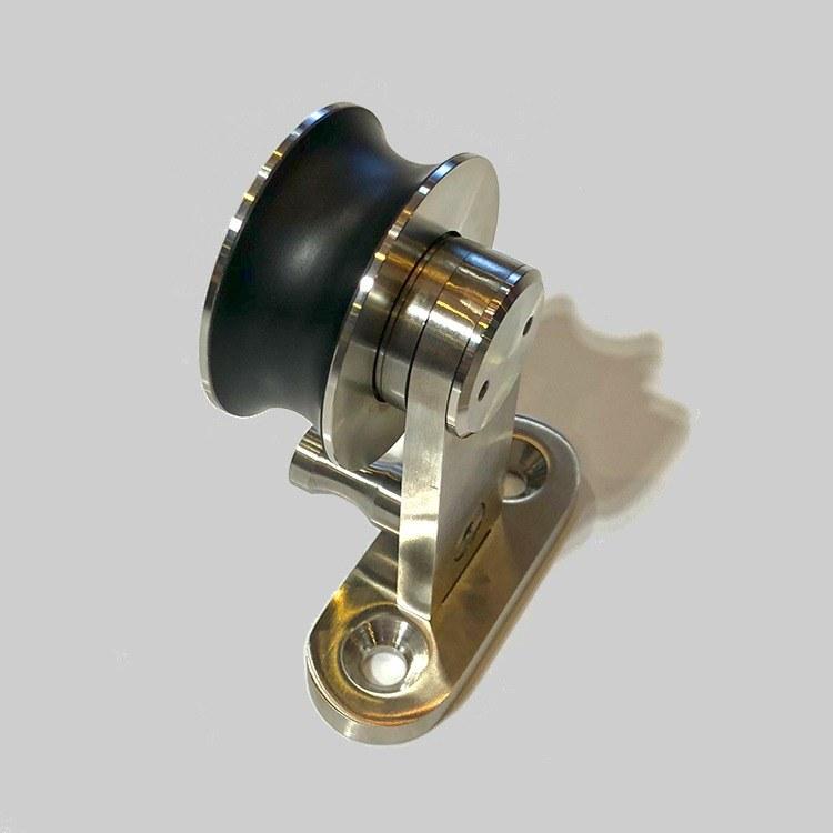 欧亚精品不锈钢滑轮无框架美式谷仓门吊轮15C酒店工程静音木门不锈钢滑轮