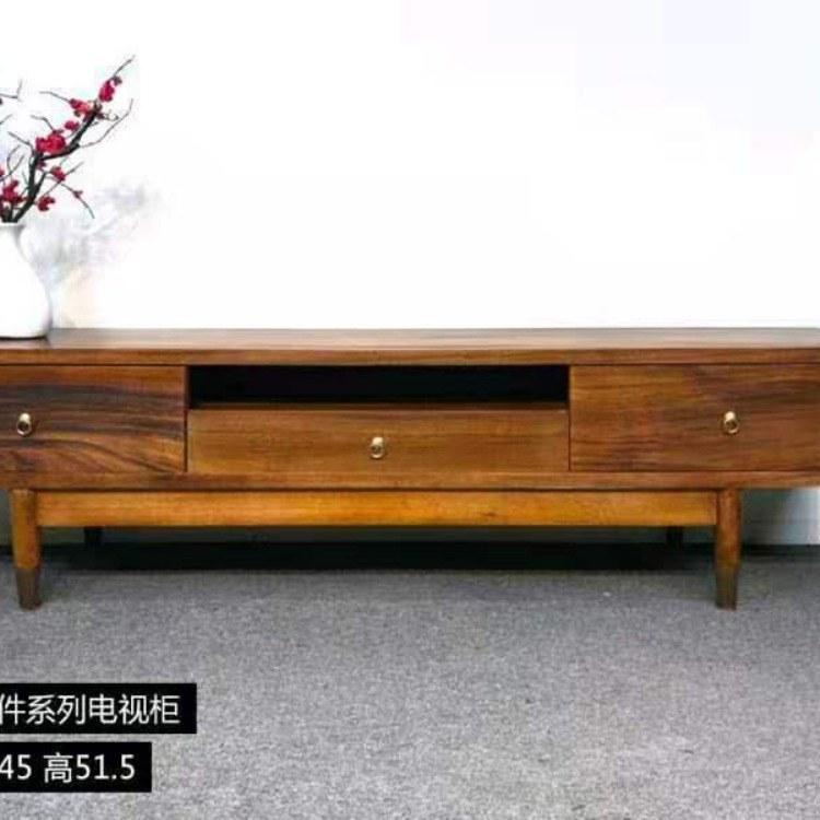 实木电视柜黑胡桃木北欧地柜现代简约小户型客厅环保家具