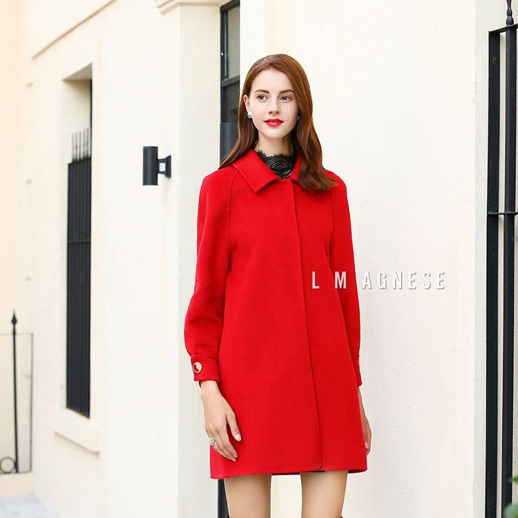 简爱格妮斯国际高端品牌女装专柜正品秋冬大衣外套