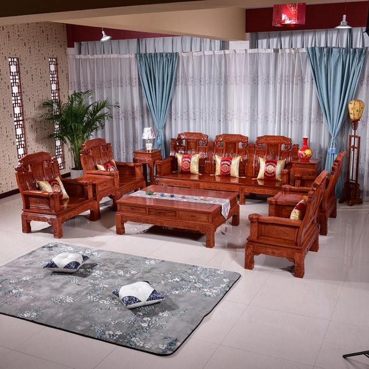 实木沙发组合现代新中式客厅木质家具小户型经济型储物中式木沙发