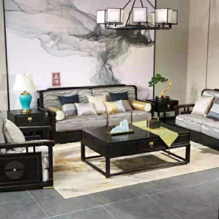 鸡翅木沙发红木家具客厅组合全实木新中式