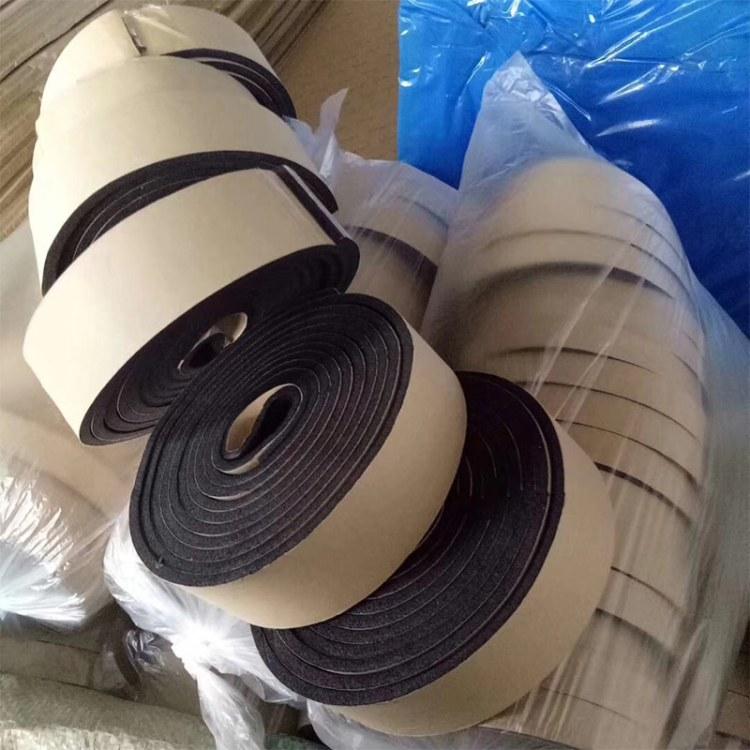 现货批发 橡塑海绵胶带 自粘橡塑海绵胶条 保温隔热自粘密封条厂家