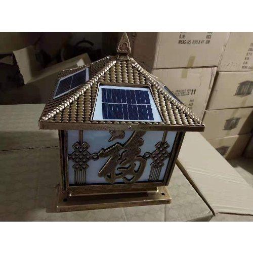 LED太阳能围墙灯专业生产 玉盛 中式太阳能围墙灯生产