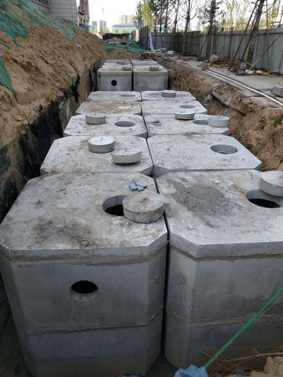 郑州预制化粪池 混凝土化粪池 三淼建材专注整体化粪池批发定制
