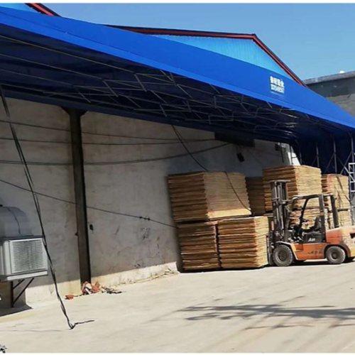 鲁耐篷布 优质推拉帐篷篷布定制 超市推拉帐篷篷布制造