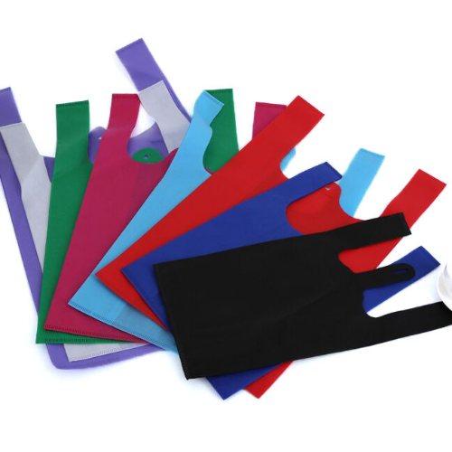 防水无纺布广告背心袋图片 供应无纺布广告背心袋 绿衡