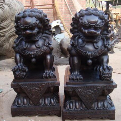 大型铸铜狮子厂家 铸铜狮子价格 博轩铜雕 大型铸铜狮子