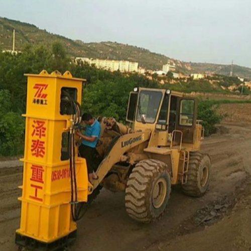 铲车装载机带高速液压夯实机报价 泽泰重工