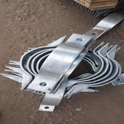 热镀锌扁铁抱箍厂家 盛业交通设施 扁铁抱箍 扁铁抱箍生产厂家
