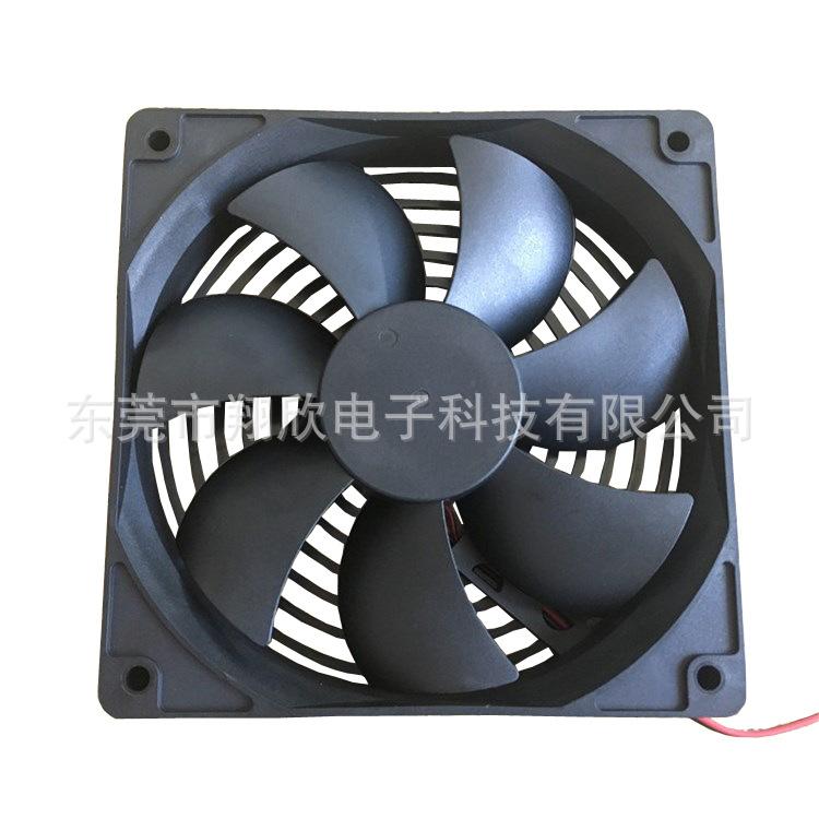 厂家直销DC12025散热风扇12v电焊机直流  风扇机箱机柜电源散热风扇