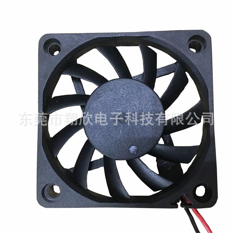 厂家供应6010直流风扇 60*60*10MM帕灯散热风扇 激光灯滚珠风扇