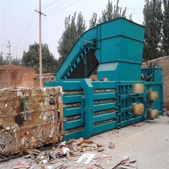 160液压打包机价位 卧式液压打包机故障 纸壳液压打包机 鑫迪机械