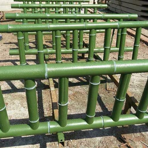 山道仿竹围栏多少钱 泰安仿竹围栏定做 丽景建材