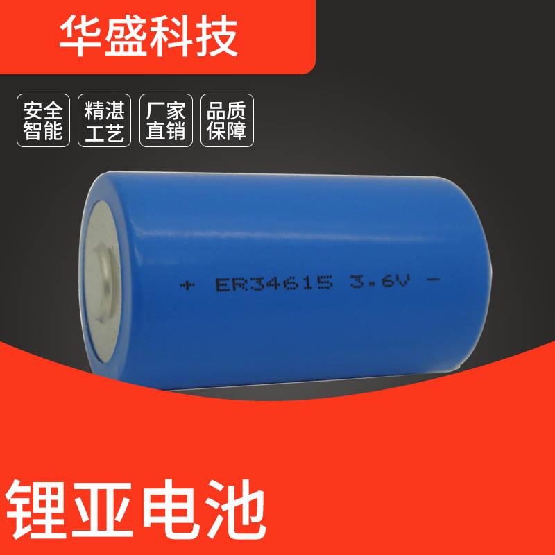 东莞华盛ER34615M圆柱锂电电池 厂家直销 可按需求定制尺寸容量