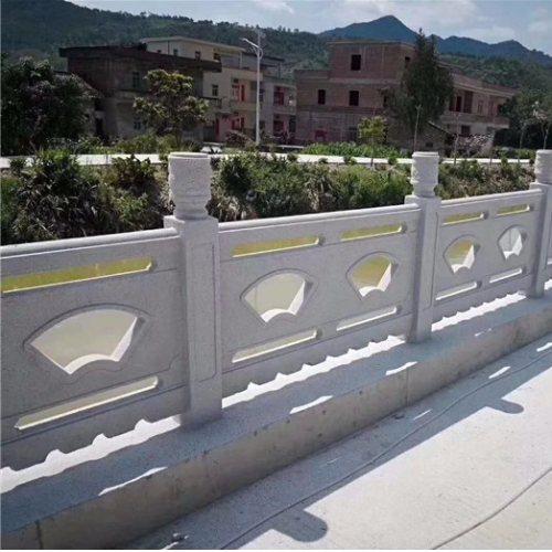 人造水泥大理石栏杆定制 池塘大理石栏杆报价 丽景建材