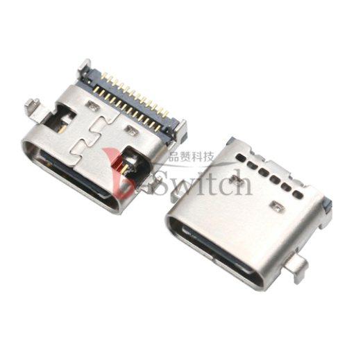 USB TYPE C 24P母座 沉板0.8mm 品赞科技