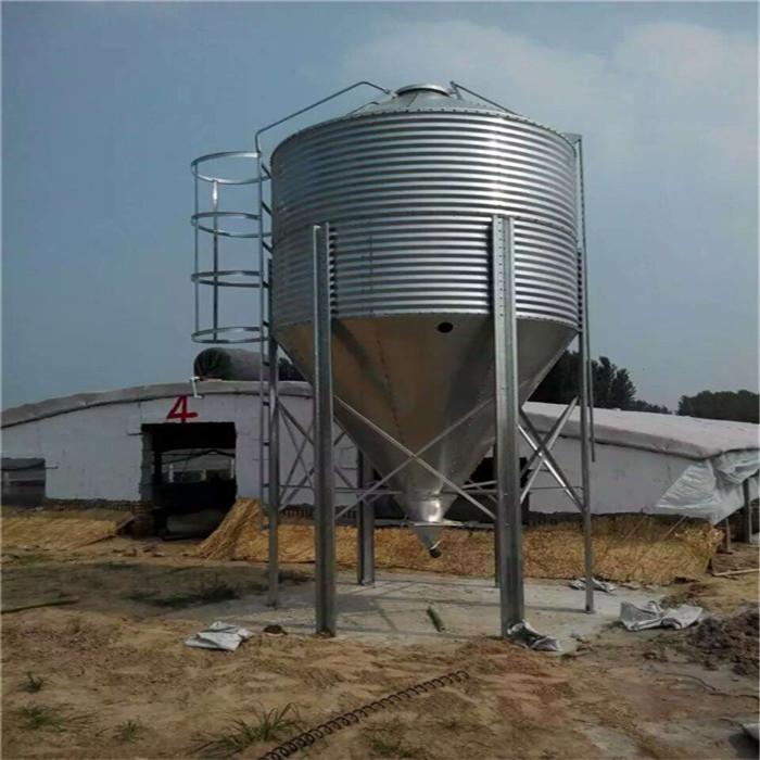 10吨镀锌料塔规格 养殖专用镀锌料塔 20吨镀锌料塔怎么安装 牧鑫