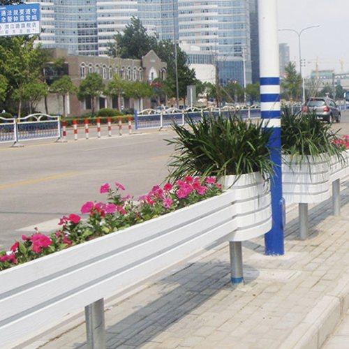 PVC花箱订制/批发/供应商 PVC护栏花箱报价/多少钱 PVC道路花箱