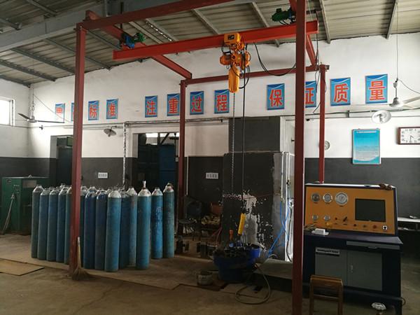 广州CNG缠绕气瓶内测法水压测试台设备说明 测试机 尺寸精准