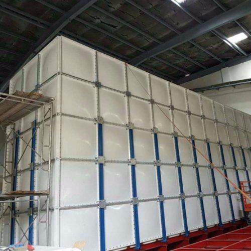 中祥供貨及時 43噸消防玻璃鋼水箱價位 20立方消防玻璃鋼水箱公司