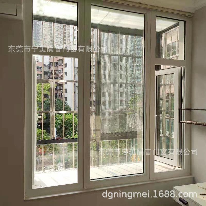 塑钢隔音隔热门 客厅厨房阳台窄边推拉门 手动平开塑钢门