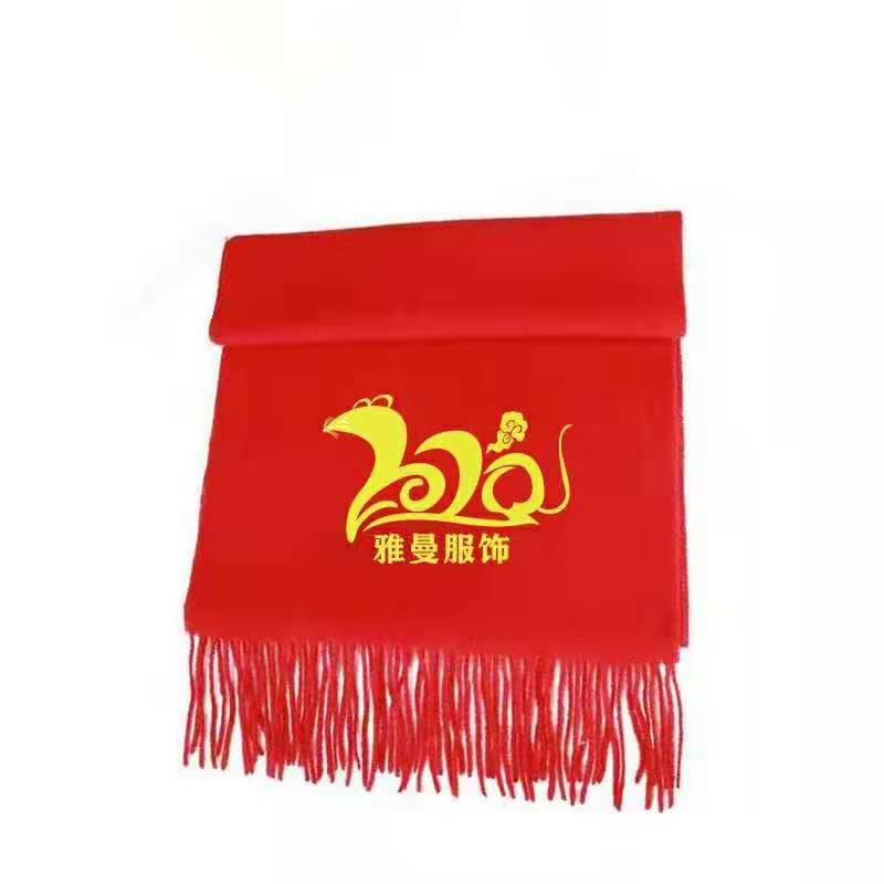 红色围巾工厂 雅丝曼年会红色围巾批发