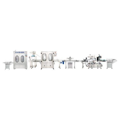 半自动直线式灌装机生产线 腾卓机械 调料直线式灌装机生产线