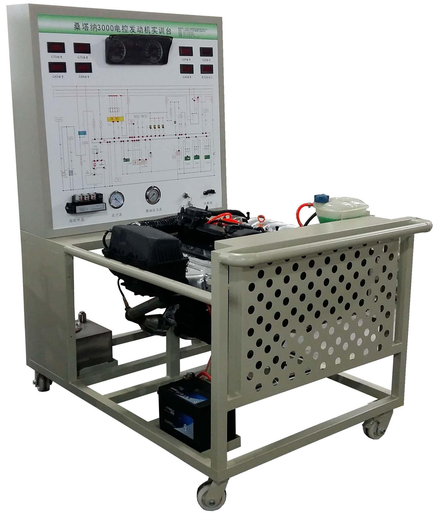 大众直喷电控汽油发动机运行实训台 直喷电控发动机实训台 上海博才