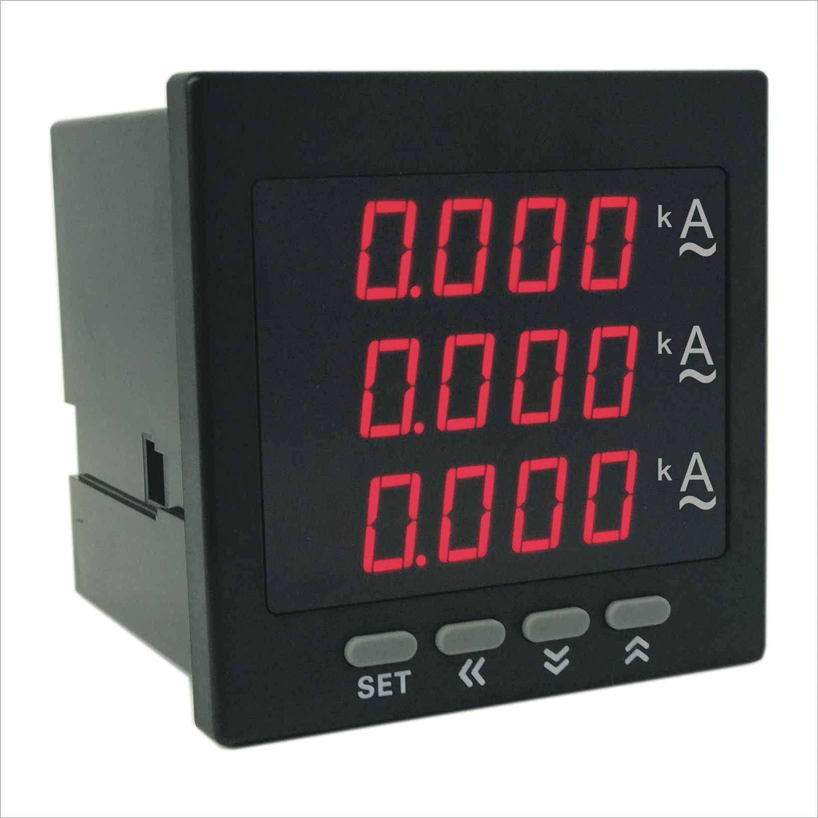 奥宾AOB394Z-8X4-3I智能数字三相电流表 奥宾