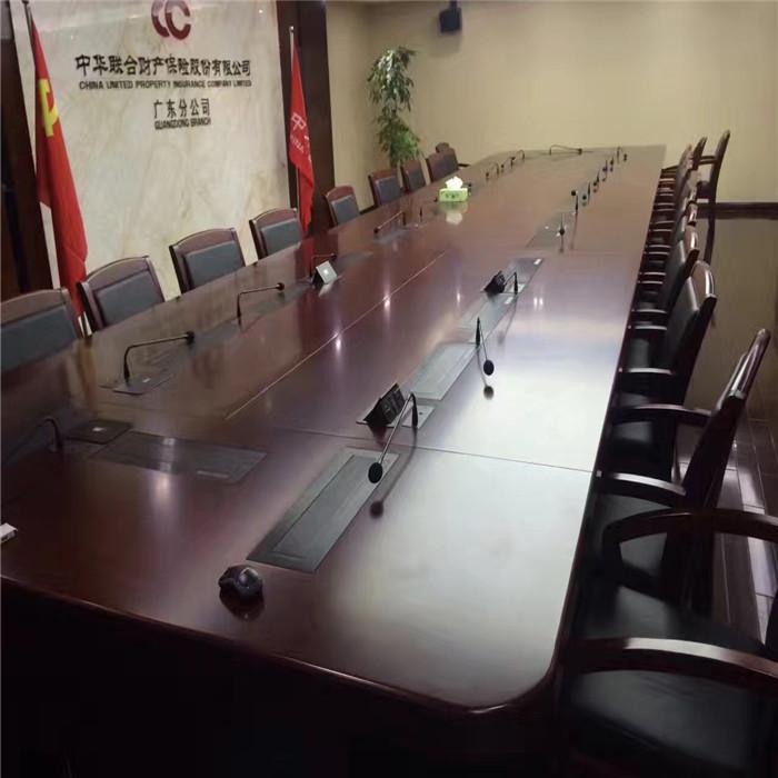 销售液晶屏升降会议桌定制 液晶屏升降会议桌定制 志欧