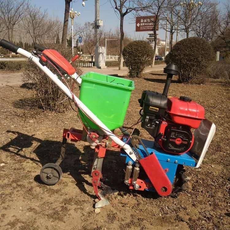 手扶式汽油播种施肥机多功能耘耕机链轨式手扶耘耕机旭阳