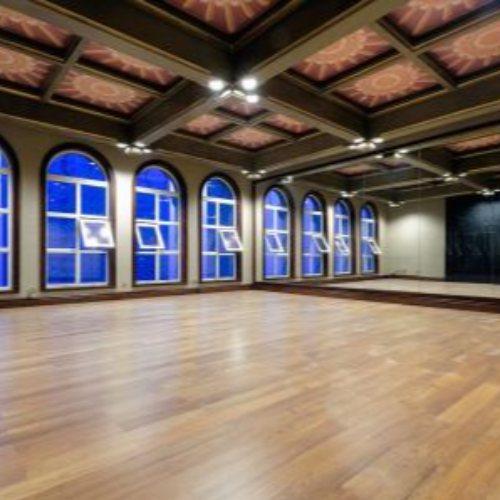 室内舞台用木地板施工 立美 学校舞台用木地板安装