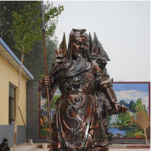 大型立刀铜关公铸造厂 立刀铜关公 立刀铜关公定做 领航铜雕