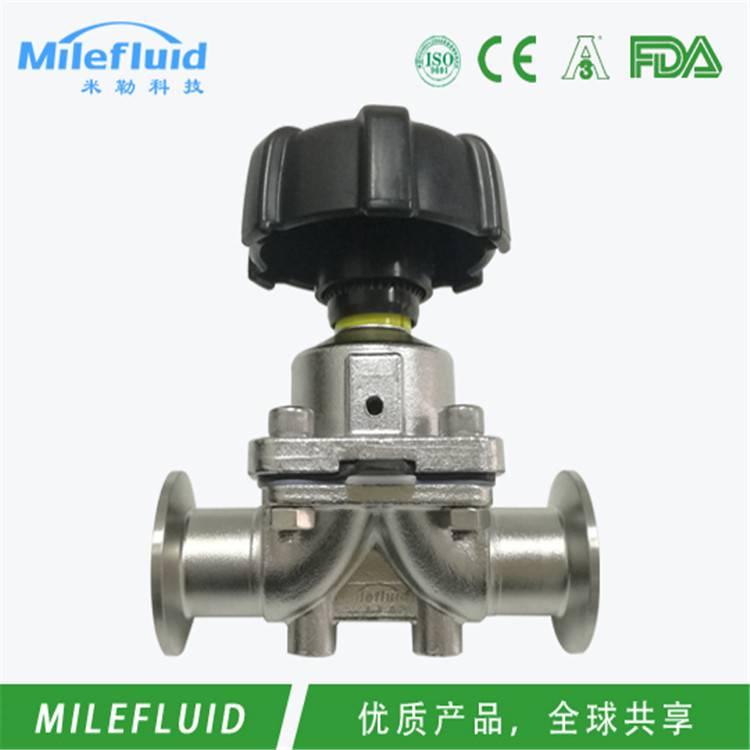 卫生级焊接隔膜阀制药级不锈钢焊接隔膜阀规格