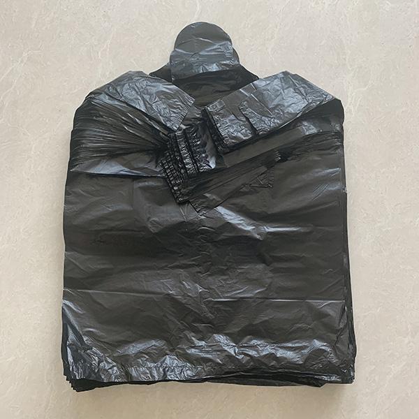 宾馆专用黑色背心袋定制 卫生间专用黑色背心袋单价 世起塑料