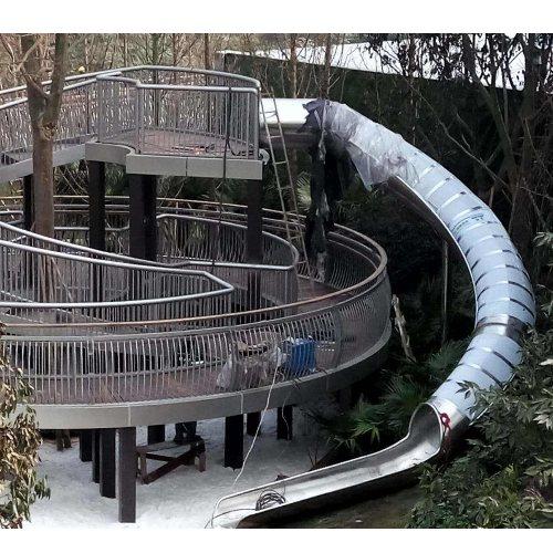 户外不锈钢滑梯定制 重庆美奇游乐设施 专业户外不锈钢滑梯定做