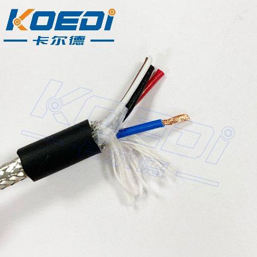 耐高温105摄氏度 带屏蔽拖链柔性电缆 3芯0.75平方+两芯0.25平方