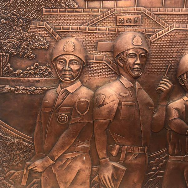 大型铜壁画 古建筑铜壁画大量供应 户外铜壁画 腾艺雕塑