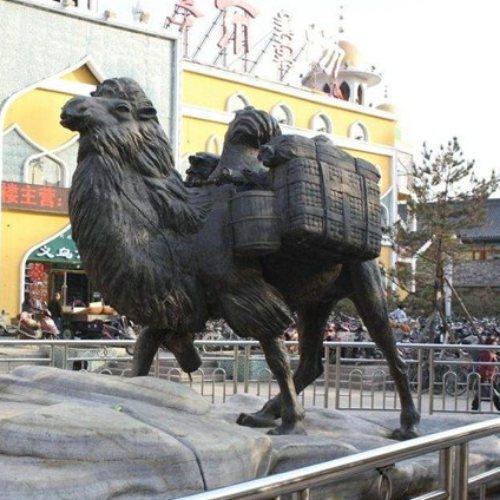 大型商业街骆驼雕塑铸造厂 商业街骆驼雕塑