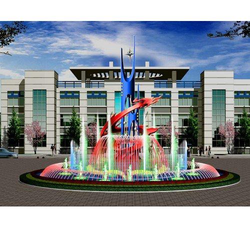 公园声控喷泉设备 潍坊声控喷泉工程 建洲园林 山东声控喷泉设计