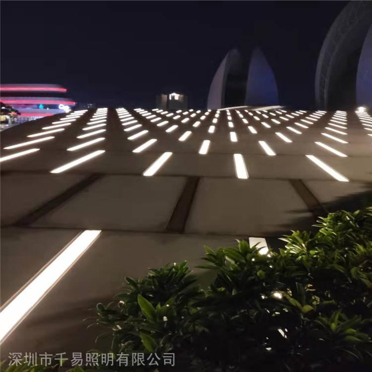 线条埋地灯带LED景观地砖灯条广场人行道步行街地面景观灯带