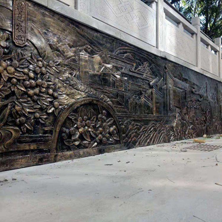 瑞鑫雕塑 砂岩浮雕壁画 锻铜浮雕壁画设计报价公司
